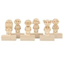 6 Marque-places en bois