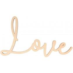 Texte en bois Love