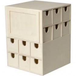 Rangement cube 24 tiroirs