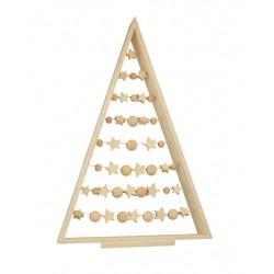 Kit sapin en bois avec perles
