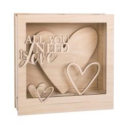 kit cadre Love 3D en bois