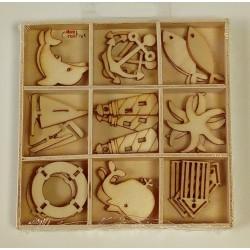 Miniatures en bois océan