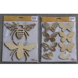 Silhouettes en bois abeille...