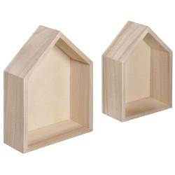 2 Cadres en bois Maisons p