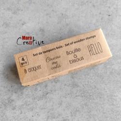 Kit 4 tampons bois: Naissance