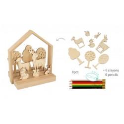 Kit: paysage en bois