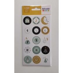Stickers calendrier Noël
