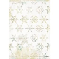 Papier DécoMaché 981 - neige